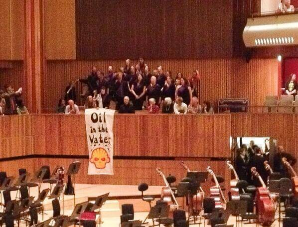 The Shell Out Sounds choir perform in the Royal Festival Hall. Photo by Hugh Warwick.